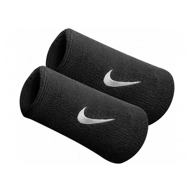 Muñequeras Nike negras NNN05010OS 101 Doble Ancho