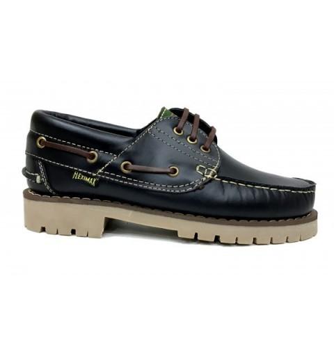 Zapatos Náuticos talla grande 50 Fleximax 3500 NEGRO