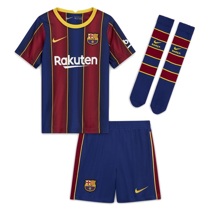 Kit Barcelona Nike Niño Temporada 2020-21 CD4590 456